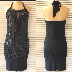South Pole Collection Dress Halter Sequin